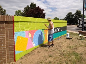 Lafayette outdoor mural